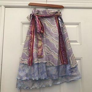 Darn good yarn wrap around skirt Silk & viscose XL
